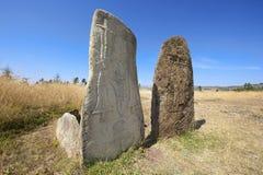 Μυστήριοι megalithic στυλοβάτες Tiya, περιοχή παγκόσμιων κληρονομιών της ΟΥΝΕΣΚΟ, Αιθιοπία στοκ φωτογραφία