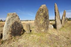 Μυστήριοι megalithic στυλοβάτες Tiya, περιοχή παγκόσμιων κληρονομιών της ΟΥΝΕΣΚΟ, Αιθιοπία στοκ φωτογραφίες με δικαίωμα ελεύθερης χρήσης