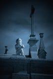 Μυστήριος άγγελος νεκροταφείων Στοκ εικόνες με δικαίωμα ελεύθερης χρήσης
