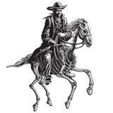 Μυστήριος ιππέας διανυσματική απεικόνιση