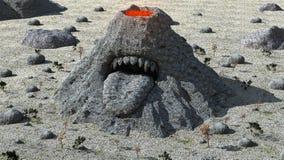 Μυστήριο βουνό 2 ηφαιστείων Στοκ Φωτογραφίες
