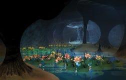 Μυστήριο σπήλαιο λωτού στοκ εικόνες με δικαίωμα ελεύθερης χρήσης