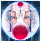Μυστική απεικόνιση φεγγαριών διανυσματική απεικόνιση