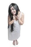 Μυστική τρελλή γελώντας γυναίκα Στοκ Εικόνες