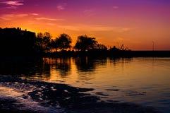 Μυστικός κόλπος ηλιοβασιλέματος στοκ φωτογραφία με δικαίωμα ελεύθερης χρήσης