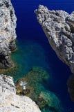 Μυστικός όρμος Ρόδος Ελλάδα Στοκ φωτογραφίες με δικαίωμα ελεύθερης χρήσης