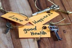 Μυστικό κλειδί για μια καλή ζωή στοκ φωτογραφίες