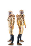 Μυϊκά άτομα που θέτουν στα κοστούμια για το striptease Στοκ φωτογραφία με δικαίωμα ελεύθερης χρήσης