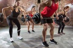 Μυϊκός κορμός bodybuilders workout στοκ εικόνα