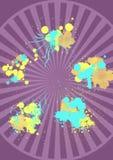 μωβ αφίσα splatter Στοκ φωτογραφία με δικαίωμα ελεύθερης χρήσης