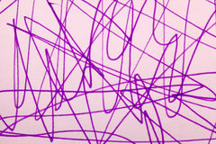 Μωβ κακογραφία δεικτών Στοκ Εικόνα