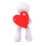 μωλωπισμένο κόκκινο καρδ Στοκ Εικόνες
