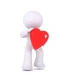μωλωπισμένο κόκκινο καρδ Διανυσματική απεικόνιση