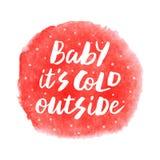 Μωρό αυτό κρύο ` s έξω στοκ εικόνες