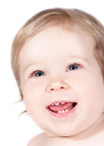 μωρό ευτυχές λίγα Στοκ Εικόνες