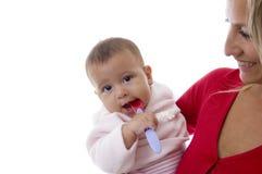 μωρό η μητέρα εκμετάλλευσή& Στοκ φωτογραφία με δικαίωμα ελεύθερης χρήσης