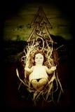 Μωρό Ιησούς στο παχνί του Στοκ Φωτογραφίες