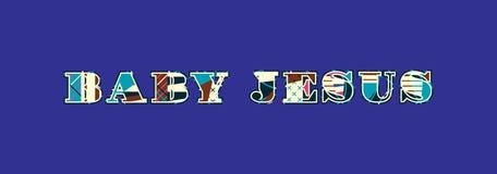 Μωρό Ιησούς Concept Word Art Illustration απεικόνιση αποθεμάτων