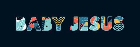 Μωρό Ιησούς Concept Word Art Illustration διανυσματική απεικόνιση