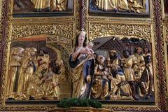 μωρό Ιησούς Mary Virgin Στοκ Φωτογραφία