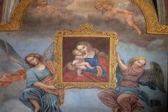μωρό Ιησούς Mary Virgin Στοκ Φωτογραφίες