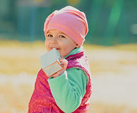 Μωρό και χυμός Στοκ Φωτογραφίες