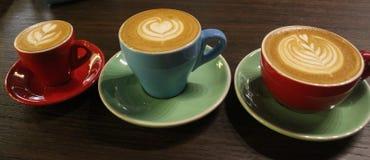 Μωρό, μαμά, καφές μπαμπάδων Στοκ εικόνες με δικαίωμα ελεύθερης χρήσης