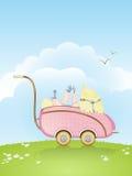 μωρό με λάθη ο τρύγος καλτσών παιχνιδιού του Στοκ φωτογραφία με δικαίωμα ελεύθερης χρήσης