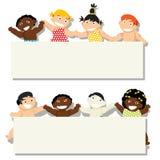 Μωρό με το έμβλημα Στοκ εικόνες με δικαίωμα ελεύθερης χρήσης