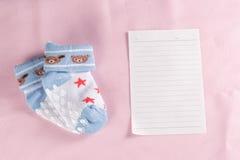 Μωρό νέο - γεννημένη ευχετήρια κάρτα Στοκ φωτογραφία με δικαίωμα ελεύθερης χρήσης