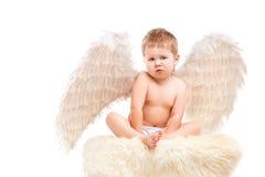 Μωρό νηπίων με τα φτερά αγγέλου Στοκ εικόνα με δικαίωμα ελεύθερης χρήσης