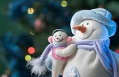 μωρό ο μικρός χιονάνθρωπος  Στοκ Εικόνες