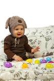 μωρό Πάσχα egss που παίζει Στοκ Φωτογραφίες