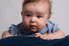 μωρό πέντε μήνες Στοκ Εικόνες