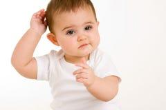 μωρό περίεργο Στοκ Εικόνες