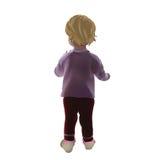 Μωρό που απομονώνεται στάση με την πίσω Στοκ φωτογραφία με δικαίωμα ελεύθερης χρήσης