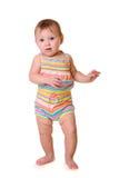 Μωρό που απομονώνεται στο λευκό Στοκ Εικόνα