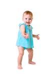 Μωρό που απομονώνεται στο λευκό Στοκ Εικόνες