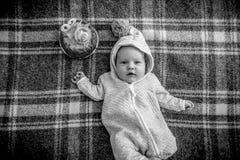 μωρό που γιορτάζει τα γενέθλιά του Στοκ εικόνες με δικαίωμα ελεύθερης χρήσης