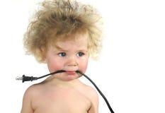 μωρό που συνδέεται με καλώδιο Στοκ Φωτογραφία