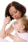 μωρό που ταΐζει την πεινασ&m στοκ εικόνα με δικαίωμα ελεύθερης χρήσης
