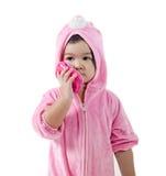 Μωρό σε μια συνήθεια λαγουδάκι στοκ φωτογραφίες με δικαίωμα ελεύθερης χρήσης