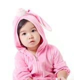Μωρό σε μια συνήθεια λαγουδάκι στοκ φωτογραφία με δικαίωμα ελεύθερης χρήσης
