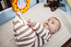 Μωρό στο παχνί Στοκ Εικόνα