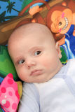 Μωρό στο χρωματισμένο υπόβαθρο Στοκ Εικόνα