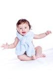 μωρό χαμόγελο που τυλίγ&epsilon Στοκ Εικόνες