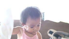 μωρό όμορφο λίγα απόθεμα βίντεο