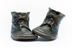 μωρό 2 τα παπούτσια αριθ. μο&upsil Στοκ Εικόνα