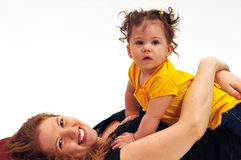 μωρό mom στοκ φωτογραφία