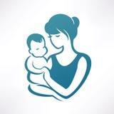 μωρό mom Στοκ φωτογραφίες με δικαίωμα ελεύθερης χρήσης